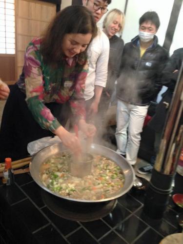 おくどさん料理体験 龍大町家キャンパスにて